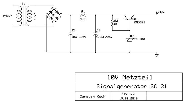 Schaltplan 10V-Netzteil neu
