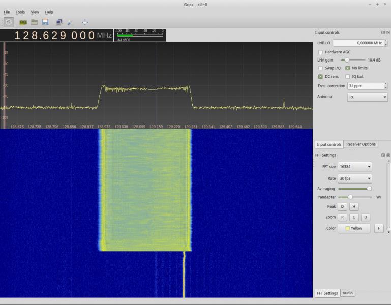 SG31 moduliert 600Hz bei 130MHz