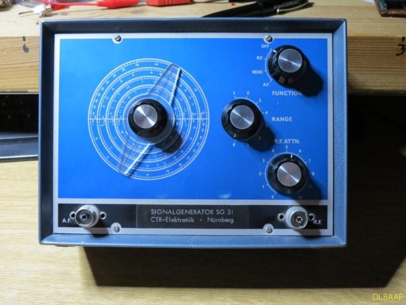 Signalgenerator SG 31 Frontplatte